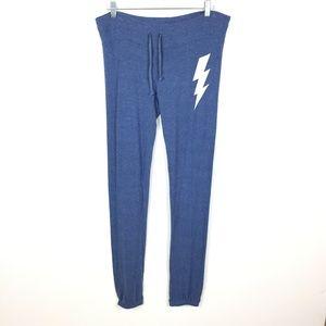 Wildfox Malibu Lightning Bolt Jogger Sweatpants S